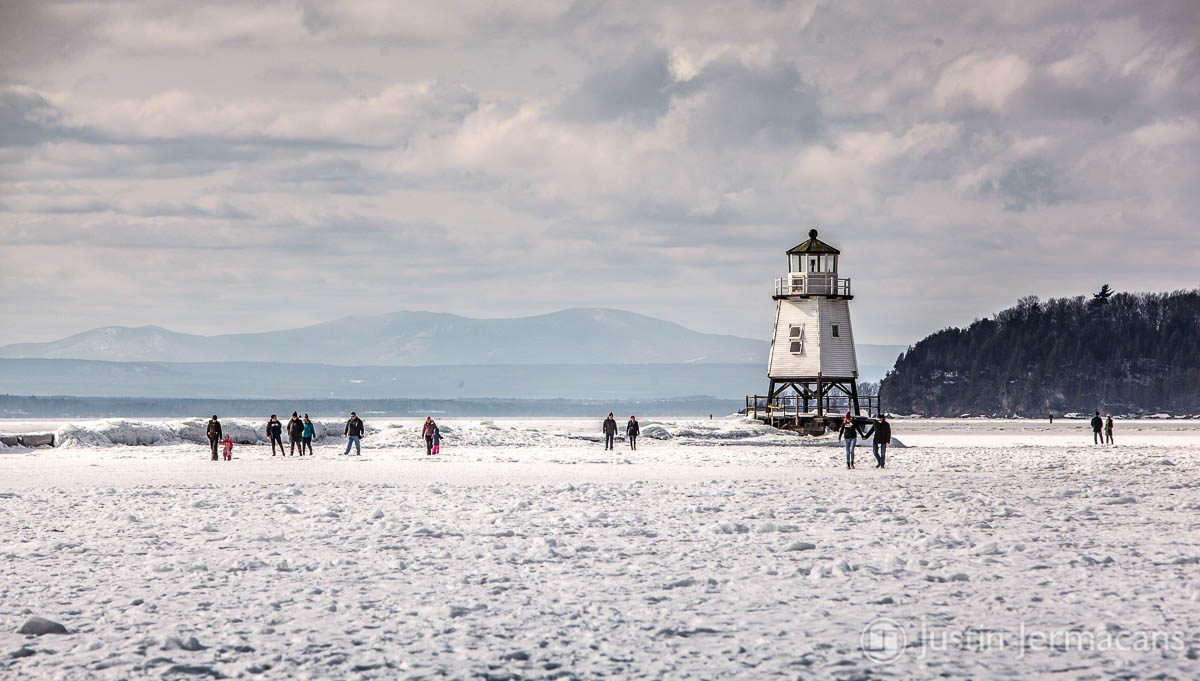 Frozen Lake Champlain - Burlington, VT
