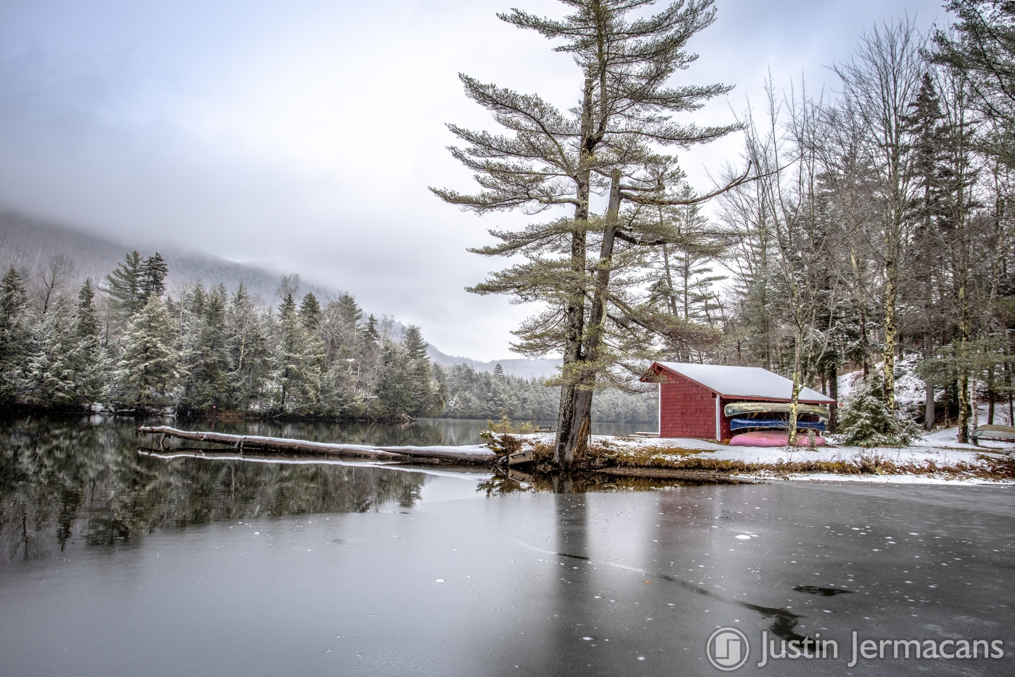 Fresh Snow 11/20/19 - Woodward Reservoir, VT