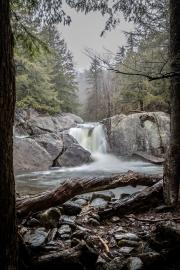 Rainy Day at Buttermilk Falls 4/29/20 - Ludlow, VT