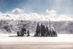 Cold and Windy Morning 1/8/20 - Lake Ninevah, VT