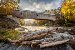 Fall Morning at Downers Covered Bridge 10/13/17 - Perkinsville, VT