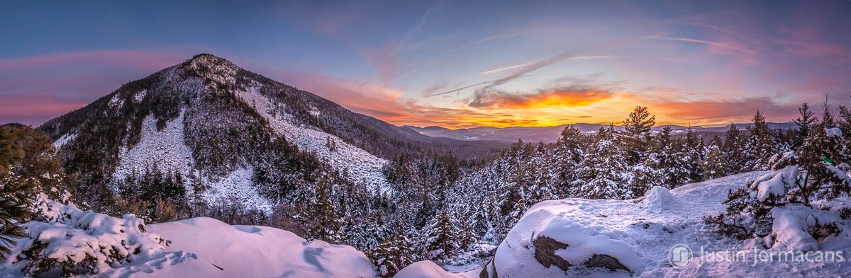Winter Sunset at White Rocks National Recreation Area, VT
