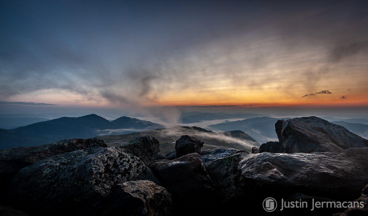 Morning Fog Sunrise - Mount Washington, NH