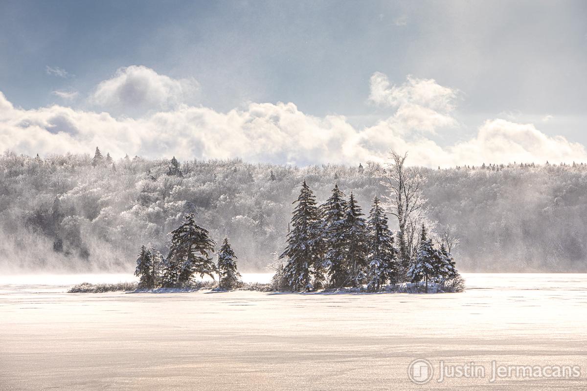 Cold and Windy Morning - Lake Ninevah, VT